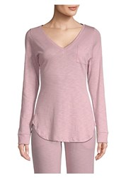 Saks Fifth Avenue Ellie Long Sleeve Tee Rose Grey Navy