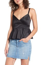 Chloe And Katie Women's Satin Corset Tank Black