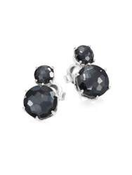 Ippolita Rock Candy Two Stone Clear Quartz And Hematite Earrings Silver Hematite