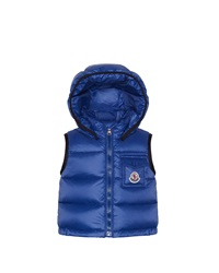 Moncler Brice Quilted Nylon Vest With Hood Navy 3M 3T