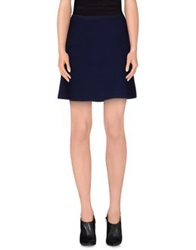 Scee By Twin Set Mini Skirts Dark Blue