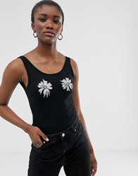 Cheap Monday Roses Are Dread Bodysuit With Recycled Polyester Black
