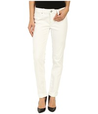 Mavi Jeans Emma In White Ripped Tribeca White Ripped Tribeca Women's Jeans