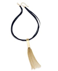Thalia Sodi Gold Tone Tassel Collar Necklace Only At Macy's