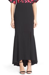 Tracy Reese Slit Fluted Maxi Skirt Black