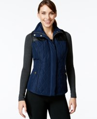 Styleandco. Style And Co. Sport Quilted Zip Front Vest Only At Macy's Industrial Blue