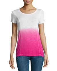 Design History Dip Dye High Low Tee Power Pink