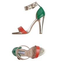 Lucy Choi London Sandals Coral