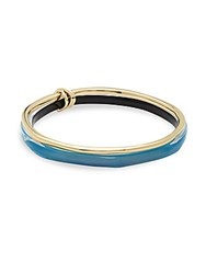 Alexis Bittar Lucite 10K Gold Plated Bangles Set Of 2 Blue Opal