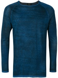 Avant Toi Distressed Effect Jumper Blue
