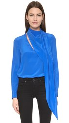 Ungaro Long Sleeve Blouse Blue