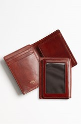 Men's Bosca 'Old Leather' Front Pocket Id Wallet Brown Cognac
