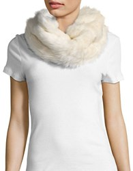 Collection 18 Faux Fur Cowlneck Muffler Ivory