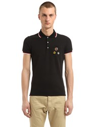 Dsquared Cotton Pique Polo With Pins