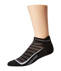 Icebreaker Run Ultra Light Micro 1 Pair Pack Black Pearl Black Men's No Show Socks Shoes Multi