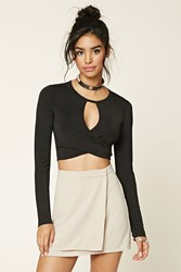 Forever 21 Keyhole Crop Top