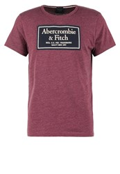 Abercrombie And Fitch Heritage Tech Muscle Fit Print Tshirt Burgundy Bordeaux
