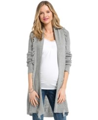 Jessica Simpson Maternity Fringed Open Front Cardigan