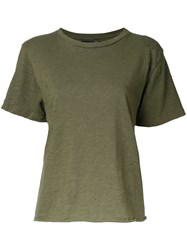 Amiri Destroyed Effect T Shirt Green