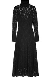By Malene Birger Palomos Corded Lace Midi Dress Black