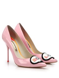 Sophia Webster Boss Lady Patent Leather Pumps Pink