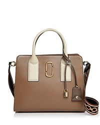 Marc Jacobs Big Shot Color Block Saffiano Leather Satchel French Gray Multi Gold