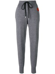 Markus Lupfer Lip Patch Track Pants Grey