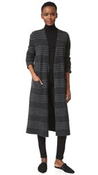 Jenni Kayne Long Sweater Coat Charcoal Grey
