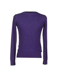 Private Lives Knitwear Jumpers Men Purple