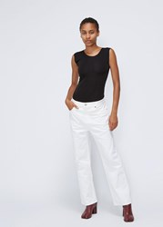 Maison Martin Margiela Mm6 'S High Rise Boy Straight Pants In Off White Size 36 100 Cotton