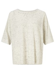Oui Tweed Effect Jumper Light Grey