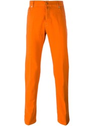 Kiton Straight Leg Jeans Yellow And Orange