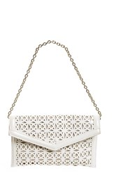 Sondra Roberts Perforated Faux Leather Clutch