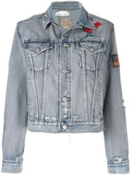 Polo Ralph Lauren Embroidered Denim Jacket Blue