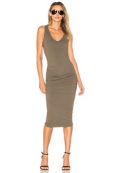 James Perse Skinny Tank Dress Olive