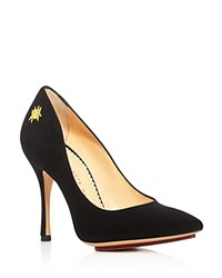 Charlotte Olympia Bacall Pointed Toe High Heel Pumps Black