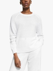 Eileen Fisher Linen Textured Jumper White