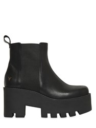 Windsor Smith 80Mm Alien Leather Ankle Boots