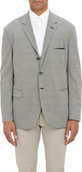 Thinple Houndstooth Three Button Sportcoat Black