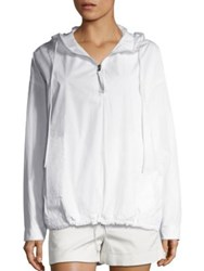 Vince Solid Cotton Hoodie White