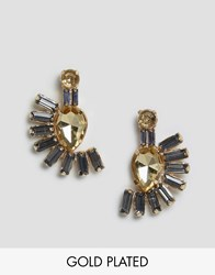 Johnny Loves Rosie Fan Drop Earrings Grey
