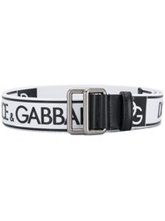 Dolce And Gabbana Logo Belt White