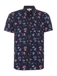 Linea Limited All Over Floral Printed Shirt Indigo