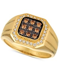 Le Vian Gents Men's Diamond Ring 1 2 Ct. T.W. In 14K Gold Yellow Gold