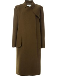 Maison Rabih Kayrouz Fitted Midi Coat Green