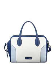 Nine West Suit Reboot Colorblock Satchel Snow Peta India Ink