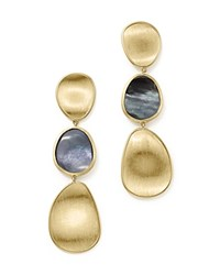 Marco Bicego 18K Yellow Gold Lunaria Black Mother Of Pearl Triple Drop Earrings 100 Bloomingdale's Exclusive Black Gold