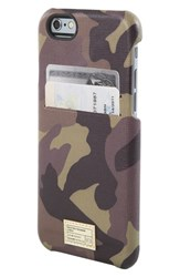 Hex 'Solo' Iphone 6 And 6S Wallet Case Brown Camo Leather
