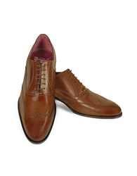 Fratelli Borgioli Handmade Brown Italian Leather Wingtip Oxford Shoes