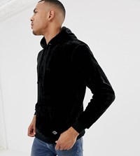 Soul Star Tall Teddy Kangaroo Hoodie Black